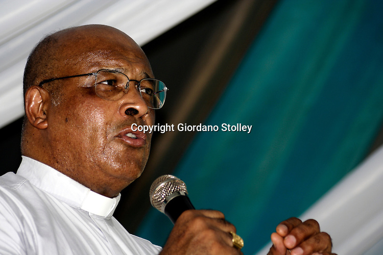 DURBAN - 24 February 2006 - Cardinal Wilfred Napier, head of the Catholic Church in South Africa speaks at a school in KwaMashu. Picture: Giordano Stolley