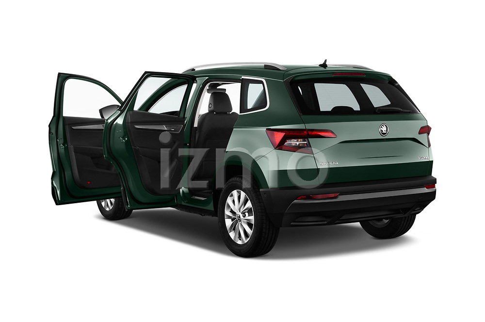 Car images close up view of a 2018 Skoda Karoq Ambition 5 Door SUV doors