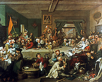William Hogarth:  An Election--An Election Entertainment.  Trustees of John Soane's Museum.  Reference only.