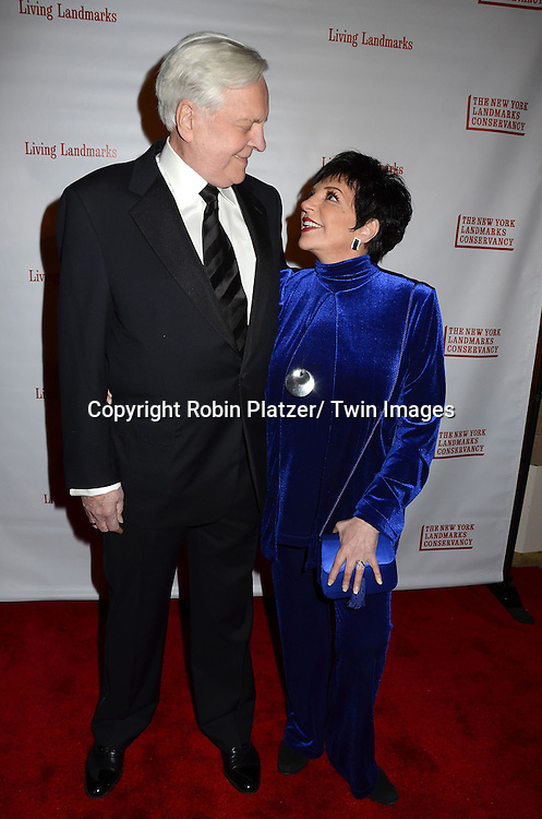 Robert Osborne, Liza Minnelli  arrive at the  New York Landmarks Conservancy's  2012 Living Landmarks Gala on November 8, 2012 at the Plaza Hotel in New York City. The honorees were Daniel Boulud, Liza Minnelli, James M Nederlander, James L Nederlander and John Rosenwald, Jr, and Peter Malkin.