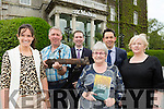 Claire Scully, Brendan Sullivan, Conor Doolan,  Catriona Dunlea, Mark Scally and Mary McMonagle launching the 1916 antique exhibition in the Malton Hotel on Monday
