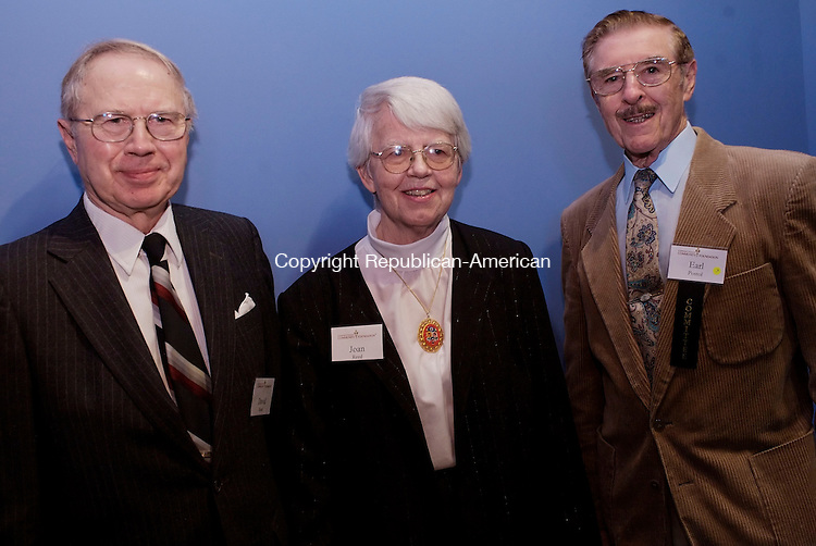WATERBURY, CT--03 October 07--100307TJ12 - David Reed, from left, with his wife, Joan, fund founders, and Earl Pastol, a member of the Evaluation Committee, attend a reception for the Connecticut Community Foundation at Timexpo in Waterbury, Conn., on Wednesday, October 3, 2007. T.J. Kirkpatrick/Republican-American