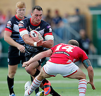 Nick Slyney in action for London during the Kingstone Press Championship game between London Broncos and Leigh Centurions at Ealing Trailfinders, Ealing, on Sun June 26,2016