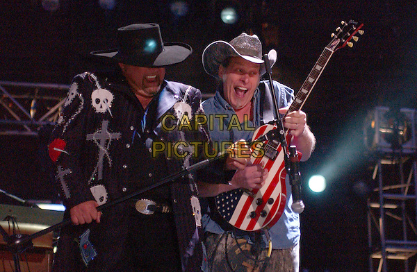 MONTGOMERY GENTRY.2007 CMA Music Festival held at LP Field, Nashville, Tennessee , USA, 08 June 2007..country live on stage concert half length band skulls jacket  guitar.CAP/ADM/LF.©Laura Farr/AdMedia/Capital Pictures.