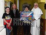 Ciarán Hickey, Karen Martin, Liz Moloney and Fr Jim Donleavy launching the Dominican Church scratch cards at the Dominican's coffee morning. Photo:Colin Bell/pressphotos.ie