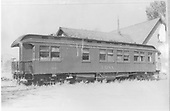 Side view of RGS business car B-20 &quot;Edna&quot; from galley end.<br /> RGS  Ridgway, CO  post 1949