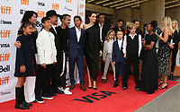 LOUNG UNG, RITHY PANH, ANGELINA JOLIE WITH HER CHILDREN MADDOX, PAX, VIVIENNE, KNOX, SHILOH AND ZAHARA - RED CARPET OF THE FILM 'FIRST THEY KILLED MY FATHER' - 42ND TORONTO INTERNATIONAL FILM FESTIVAL 2017