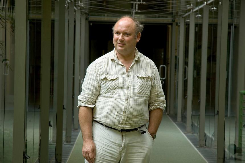 Turin, Italy, 2005. Louis de Bernières, English novelist.