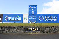 The 1st tee at the Media Day to preview the Dubai Duty Free Irish Open hosted by the Rory Foundation to be held at Portstewart Golf Club from July 6-9. 17th May 2017.<br /> Picture: Eoin Clarke | Golffile<br /> <br /> <br /> All photos usage must carry mandatory copyright credit (&copy; Golffile | Eoin Clarke)