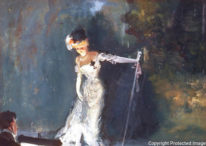 American Painters:  Everett Shinn--Revue, 1908.  Oil on canvas.  Whitney Museum of American Art, 1961.