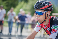 by finishing 2nd, Richie Porte (AUS/BMC) moves into the overall lead after stage 6: Le parc des oiseaux/Villars-Les-Dombes &rsaquo; La Motte-Servolex (147km)<br /> <br /> 69th Crit&eacute;rium du Dauphin&eacute; 2017