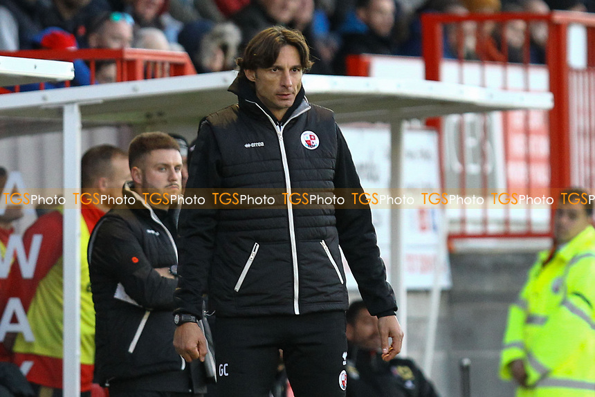 Crawley Town manager Gabriele Cioffi during Crawley Town vs MK Dons, Sky Bet EFL League 2 Football at Broadfield Stadium on 3rd November 2018