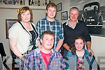 Joe Costelloe,Famers Bridge,Tralee(seated Lt)celebrated his 21st birthday in Cassidy's restaurant,Tralee last Friday evening with his family,also seated is Grace(back)L-R Laura,Kenneth and Tom..