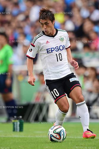 Takayuki Funayama (Yamaga),<br /> OCTOBER 4, 2014 - Football / Soccer :<br /> 2014 J.League Division 2 match between Yokohama FC 0-2 Matsumoto Yamaga FC at Ajinomoto Field Nishigaoka in Tokyo, Japan. (Photo by AFLO)