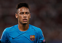 Calcio, Champions League, Gruppo E: Roma vs Barcellona. Roma, stadio Olimpico, 16 settembre 2015.<br /> FC Barcelona&rsquo;s Neymar during a Champions League, Group E football match between Roma and FC Barcelona, at Rome's Olympic stadium, 16 September 2015.<br /> UPDATE IMAGES PRESS/Isabella Bonotto<br /> <br /> *** ITALY AND GERMANY OUT ***