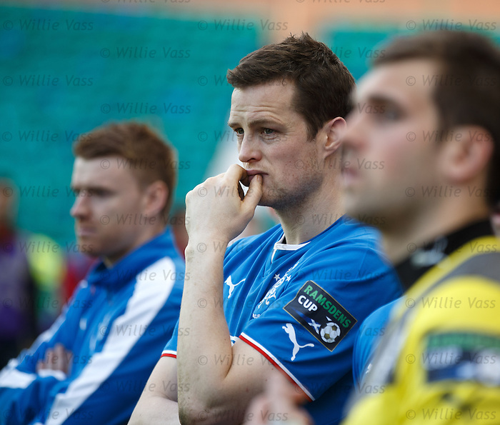 Jon Daly watches Raith Rovers lift the cup