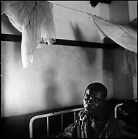 Kuito, Angola, May, 22, 2006.Anotnio, 36, suffers from Tuberculosis and malnutritiion, he is a patient in Bié Province Hospital. TB is endemic in the region, fueled by poverty, malnutrition, inadequate hygiene and the rapid spreading of HIV/AIDS since the end of the civil war in 2002.