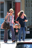 Natascha McElhone and son - Los Angeles