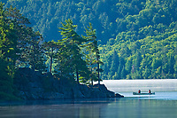Canoeing on Lake of Two Rivers<br />