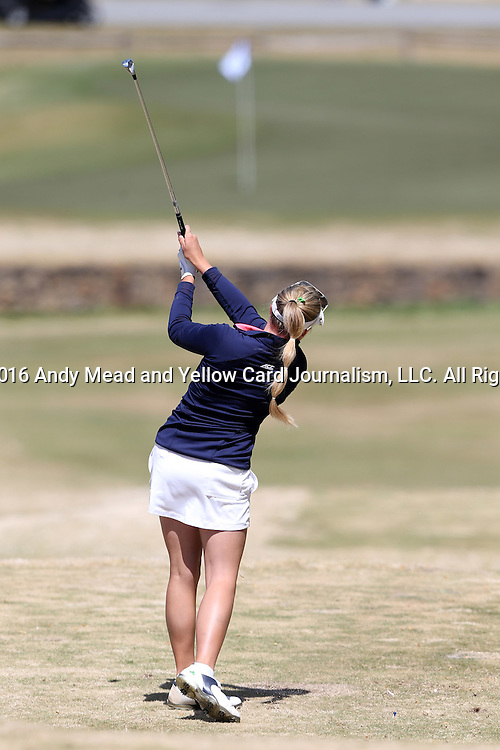 15 April 2016: Notre Dame's Maddie Rose Hamilton. The First Round of the Atlantic Coast Conference's Womens Golf Tournament was held at Sedgefield Country Club in Greensboro, North Carolina.