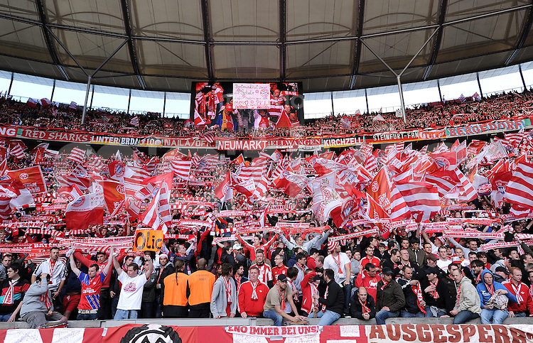 FUSSBALL      DFB POKAL FINALE       SAISON 2011/2012 Borussia Dortmund - FC Bayern Muenchen   12.05.2012 Fankurve im Berliner Olympiastadion vom FC Bayern Muenchen
