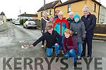 Residents from Laune View in Killorglin who are appealing to the Council to resurface the road in their estate front row l-r: John Doyle and Eileen O'Connor. Back row: Bridie Sullivan, Nora O'Connor, Marian Russell, Eileen Griffin, Patrick Chub O'Connor, Anne O'Sullivan and Liam Brosnan