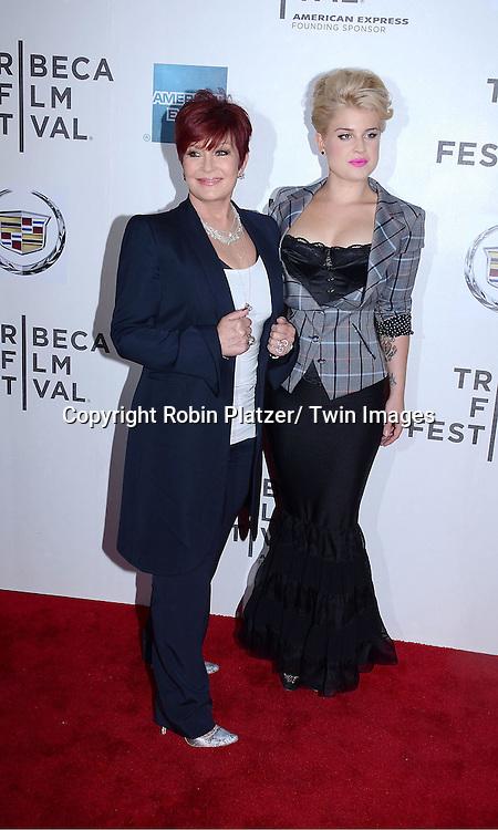 "Sharon Osbourne and Kelly Osbourne attending the Tribeca Film Festival screening of.""God Bless Ozzy Osbourne"" on april 24, 2011 at The BMCC/TPAC in New York City."