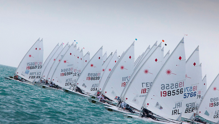 Start of the Laser Radial's race