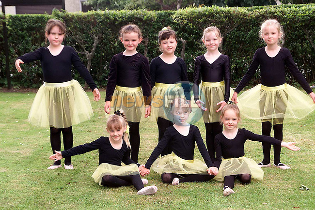 Katie Kelly, Rebecca Lynch, Emer Eustace, Dearbhla Mitchell, Clare Kruger, Alison Martin, Ellen McCabe and Jennifer Power from the Katherine Martin school of Ballet..Picture Paul Mohan Newsfile