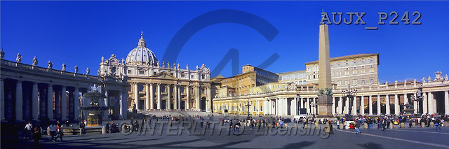 Dr. Xiong, LANDSCAPES, panoramic, photos, St.Peters Square, Italy(AUJXP242,#L#)