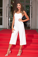 Zara McDermott at the Grand Prix Ball at the Hurlingham Club, London on July 4th 2018<br /> CAP/ROS<br /> &copy;ROS/Capital Pictures