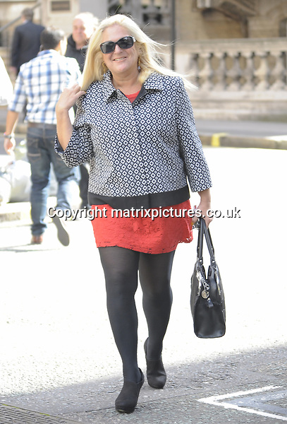 NON EXCLUSIVE PICTURE: MATRIXPICTURES.CO.UK<br /> PLEASE CREDIT ALL USES<br /> <br /> WORLD RIGHTS<br /> <br /> English media personality Vanessa Feltz is pictured walking to her dance rehearsals, in London. <br /> <br /> The broadcaster is currently starring in the new series of Strictly Come Dancing.<br /> <br /> SEPTEMBER 16th 2013<br /> <br /> REF: PSE 136153