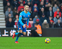 Jack Wilshere of Arsenal looks for options during AFC Bournemouth vs Arsenal, Premier League Football at the Vitality Stadium on 14th January 2018
