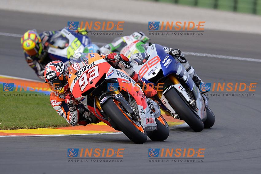 Lg Valencia (Spagna) 10/11/2013 - gara motogp / foto Luca Gambuti/Image Sport<br /> nelle foto: Jorge Lorenzo-Marc Marquez
