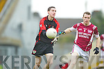 Colm O'Sullivan Kenmare goes past Den Joe O'Callaghan Rockchapel during their Munster Club Champiionship semi final in Fitzgerald Stadlium on Sunday