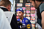 Julian Alaphilippe (FRA) Deceuninck-Quick Step wins the 83rd edition of La Fl&egrave;che Wallonne 2019, running 195km from Ans to Huy, Belgium. 24th April 2019<br /> Picture: ASO/Gautier Demouveaux | Cyclefile<br /> All photos usage must carry mandatory copyright credit (&copy; Cyclefile | ASO/Gautier Demouveaux)