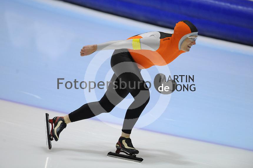 SCHAATSEN: HEERENVEEN: Thialf, 4th Masters International Speed Skating Sprint Games, 25-02-2012, Noor van der Ster (F55) 1st, ©foto: Martin de Jong
