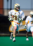 3 April 2010: University of Vermont Catamounts' Attacker A.J. Masson, a Freshman from Newmarket, Ontario, in action against the Binghamton University Bearcats at Moulton Winder Field in Burlington, Vermont. The Catamounts defeated the visiting Bearcats 11-8 in Vermont's opening home game of the 2010 season. Mandatory Credit: Ed Wolfstein Photo