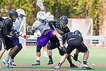 Orange, CA 05/16/15 - Zane Larson (Colorado #21), Ron Hamwey (Grand Canyon #31) and unidentified Grand Canyon player(s) in action during the 2015 MCLA Division I Championship game between Colorado and Grand Canyon, at Chapman University in Orange, California.