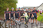 The Chain Gang from Tralee pictured her in Cahersiveen on The Ring Of Kerry Cycle were l-r; Sean Williams, Peter Gleeson, Thomas Crowley, John O'Regan, Christo Murray, Ailish Brosnan, Donacha Galvin, Pierce Heaslip, Ciara?n Moss & Damien Cashell.