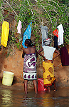 World Water Day. Women are washing their clothes at the river . Photo by Jose L. Cuesta