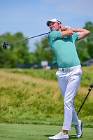 Chris Wood (ENG) watches his tee shot on 12 during Thursday's round 1 of the 117th U.S. Open, at Erin Hills, Erin, Wisconsin. 6/15/2017.<br /> Picture: Golffile | Ken Murray<br /> <br /> <br /> All photo usage must carry mandatory copyright credit (&copy; Golffile | Ken Murray)