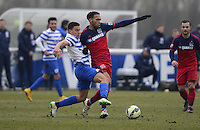 Reece Grego-Cox of QPR and Matthew Watson of Chicago Fire