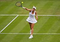 26-06-13, England, London,  AELTC, Wimbledon, Tennis, Wimbledon 2013, Day three, Caroline Wozniacki (DEN)<br /> <br /> <br /> <br /> Photo: Henk Koster