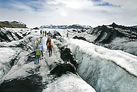 Strap on a pair of crampons and take a walk on the Sólheimajökull outlet glacier in Iceland. While its name would lead you to believe that the entire island is one solid block of ice, actually only 10 percent of Iceland is covered in glaciers.