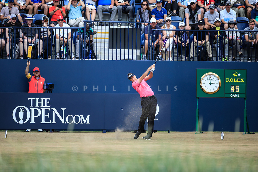 Ian Poulter (ENG) during the first round of the 147th Open Championship played at Carnoustie Links, Angus, Scotland. 19/07/2018<br /> Picture: Golffile   Phil Inglis<br /> <br /> All photo usage must carry mandatory copyright credit ©Phil INGLIS)