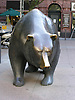 Bear in front of the stock market in Frankfurt on the Main - symbol for the down at the financial market<br /> <br /> Oso en Fráncfort del Meno - símbolo para el abajo en el mercado financiero<br /> <br /> Bär vor der Frankfurter Börse - Symbol für das Ab am Finanzmarkt<br /> <br /> 1600 x 1200 px