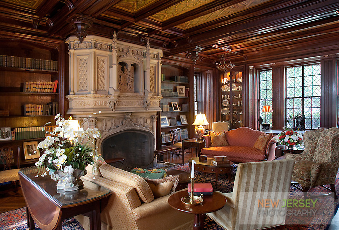 Library at Drumthwacket, offical residence of the Governor of New Jersey