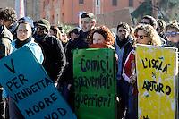 Roma, 14 Dicembre 2010.Manifestazione contro la fiducia al governo Berlusconi.Rome, December 14, 2010.Demonstration against the trust to the Berlusconi government