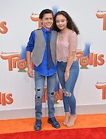 LOS ANGELES, CA. October 23, 2016: Actress Kayla Maisonet &amp; actor Isaak Presley at the Los Angeles premiere of &quot;Trolls&quot; at the Regency Village Theatre, Westwood.<br /> Picture: Paul Smith/Featureflash/SilverHub 0208 004 5359/ 07711 972644 Editors@silverhubmedia.com